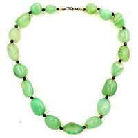 Sea Green Color Stone For Peace Necklace, Sea Green Stone For Peace Necklace, Peace Necklace