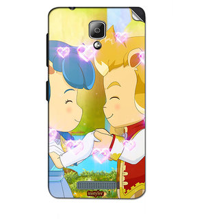 Instyler Mobile Skin Sticker For Lenovo A1000 MSLENOVOA1000DS-10069