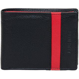 Allure Design Mens Formal Genuine Leather Black Colour Wallet
