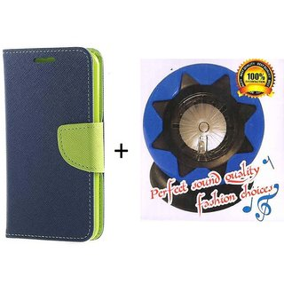 Wallet Flip Cover With Mobile Speaker For Sony Xperia M