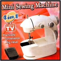 Portable Mini Sewing Compact 4 In 1 Adapter Foot Pedal Machine As Seen TV Gift - 2654710