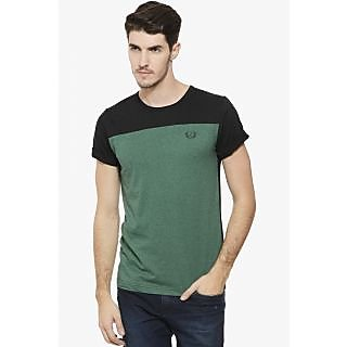 Rigo Men's Green Round Neck T-Shirt