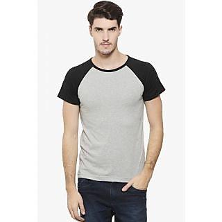 Rigo Men's Grey Round Neck T-Shirt