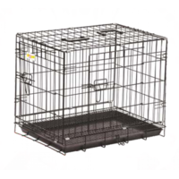 All4Pets DOG CRATE - 2  (BLUE CAGE WITH BROWN BOX) A4P YD-100-2