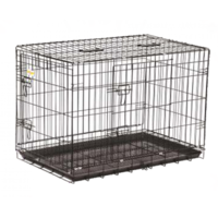 All4Pets DOG CRATE - 4  (BLUE CAGE WITH BROWN BOX) A4P YD-100-4
