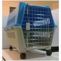 All4Pets Dog Cage - M (Plastic with Plate mat  wheels) A4P P783