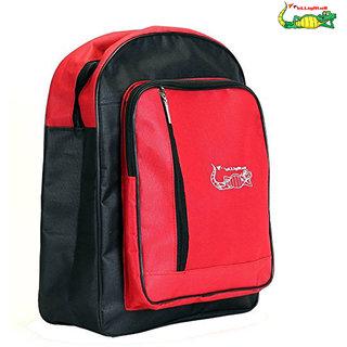 Elligator Red  Black School Bag