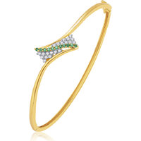 Sukkhi Majestic Gold And Rhodium Plated CZ Kada For Women