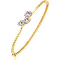Sukkhi Radiant Gold And Rhodium Plated CZ Kada For Women
