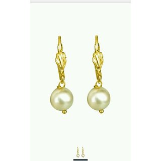 One gram gold plated ball pearl earrings