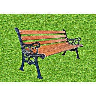 Panvel Fancy Hardware Cast Iron Garden Benches With FRP Slats (F1)