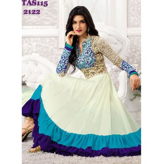 Thankar Kriti Senon New White Designer Anarkali Suits