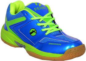 Feroc Blue  Green Unisex Badminton Shoe