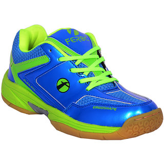 Feroc Blue  Green Unisex Badminton Shoe