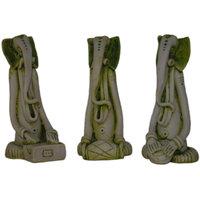 Madg Religious Idols Of Ganesha Playing Musical Instruments Premium Statue (Set Of 3) Showpiece (H  16.5 Cm X W  8 Cm X D  7.5 Cm)