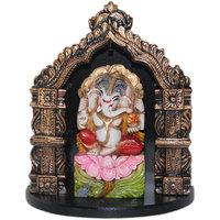 Madg Vastu Fangshui Religious Idols Of Lord Ganesha Premium Statue Showpiece (H  12 Cm X W  10 Cm X D  5 Cm)