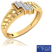 0.15ct Certified Diamond Mens Ring 14K Hallmarked Gold Ring GR-0006