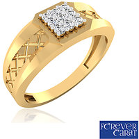 0.20ct Certified Natural Diamond Mens Ring 14K Hallmarked Gold Ring GR-0008