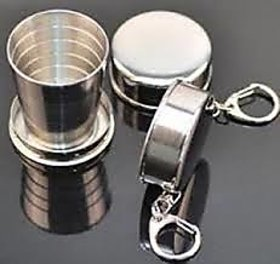 Steel Magic Glass Cup Folding Cup With Key Chain For Camping Traveling