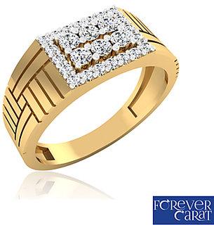 0.44ct Certified Natural Diamond Mens Ring 14K Hallmarked Gold Ring GR-0009