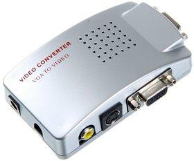 PC To TV Converter VGA to PAL Compo RCA + S-Video + VGA