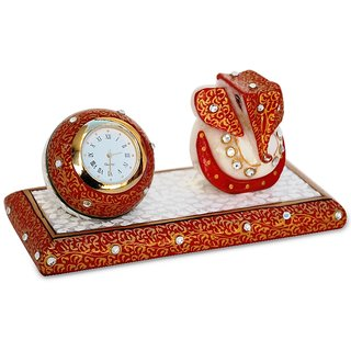 Marble Clock With Ganesha