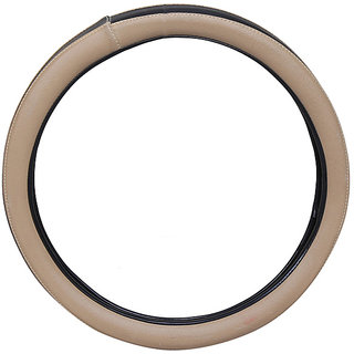 PegasusPremium FluidicVerna BeigeBlack Steering Cover
