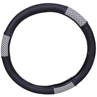 PegasusPremium Polo Cross BlackGrey Steering Cover