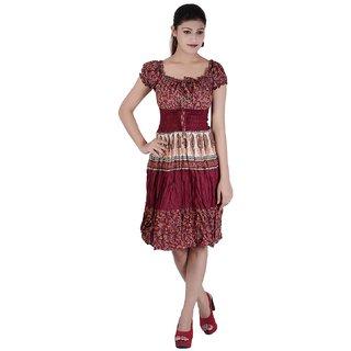 b391b4b3a02f Buy Sindhu Dress Womens Cotton Printed Short Middy Online   ₹1500 ...