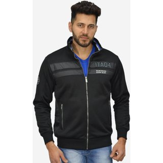 Octave Mens Full Sleeve Fleece Sweatshirt (J-260-15-BLACK)