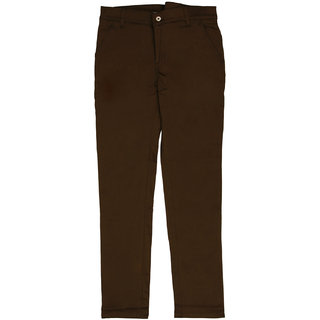 Chawla Brothers Mens Brown Trouser