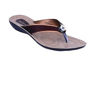 Khadims Dark Brown Slip-on Womens Flats