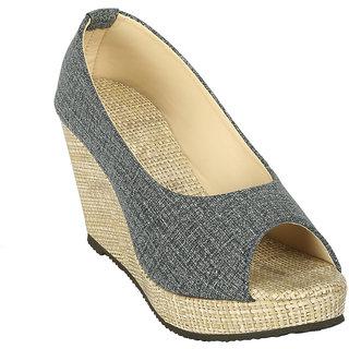 Zachho Women Grey Casual Slip On Wedge Heel (HC118-Grey)