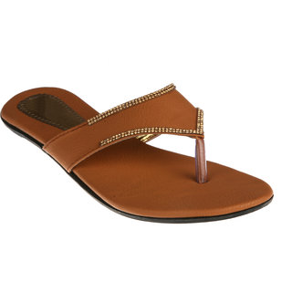 Zachho Women Brown Slippers (HC72-BROWN)