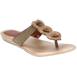 Zachho Women Brown Slippers (HC86-BROWN)