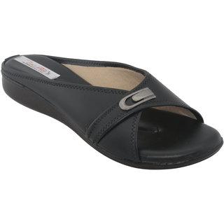 Zachho Women Black Slippers (HC179-Black)