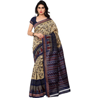 Sareemall Multicolor Art Silk Lace Border Saree with Unstitched Blouse WOM8050