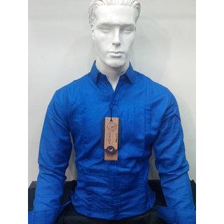 Plain Blue Cotton Shirt