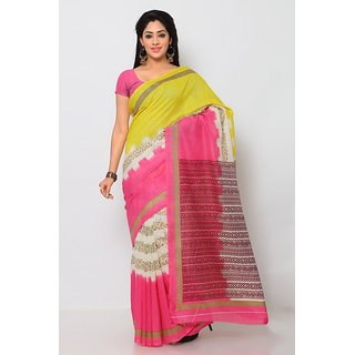 Sareemall Multi Art Silk Printed Casual Saree With Unstitched Blouse 3SKT8110A