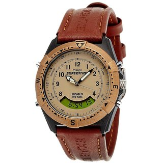 Beige Analogue Digital Watch For Men