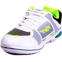 Chazer Men White,Grey,Green Lace-Up Sport Shoes (CZRXMX