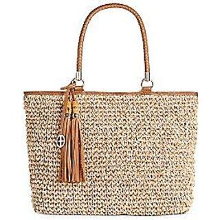 Giani Bernini Marled Straw Tote Handbags