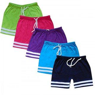 Jisha Fashion Cotton Multicolour Bermuda (Set of 5)