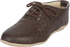 Zachho Women Brown Lace-Up Casual Shoes (HC207-Brown)