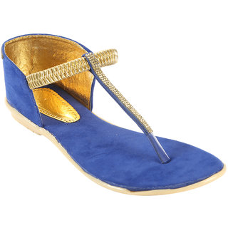 Zachho Women Blue Plain Toe Casual Sandals (HC154-Blue)
