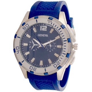 Genva Blue Color Quartz Watch for Boyz