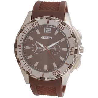 Genva Brown Color Quartz Watch for Boyz