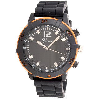 Genva Orange Color Quartz Watch for Boyz