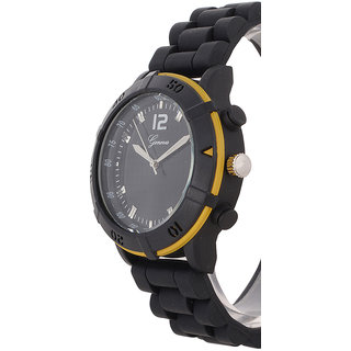 Genva Black Color Quartz Watch for Boyz