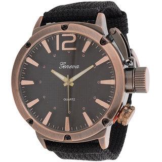 Genva Black Color Quartz Wrist Watch for Boyz